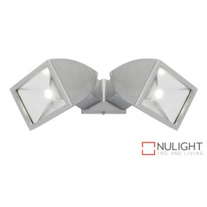 Zone2 LED 2x11W Exterior Floodlight Brushed Chrome MEC