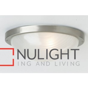 Forte Large Oval 1 Light Exterior Ceiling Flush MEC