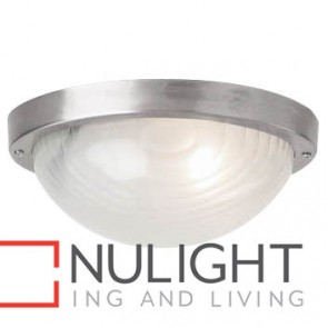Forte Small Oval 1 Light Exterior Ceiling Flush MEC