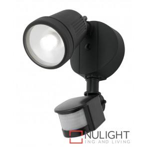 Otto 12W LED Floodlight with Sensor Black MEC