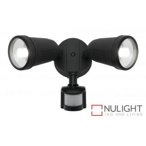 Otto 2 Light LED Flood Light with Sensor Black MEC