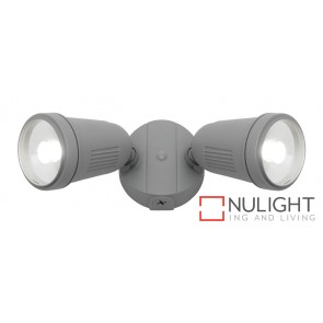 Otto 2 Light 12W LED Floodlight Silver MEC
