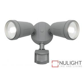 Otto 2 Light LED Flood Light with Sensor Silver MEC