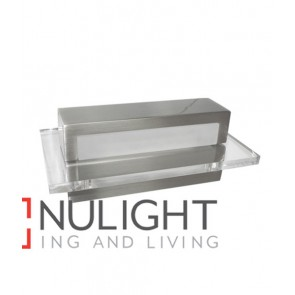 WALL INTERNAL Surface Mounted CITY LED S/Nickel with Clear Acrylic Border Rectangular Up Down 6W 120D IP23 (180 Lumens) CLA