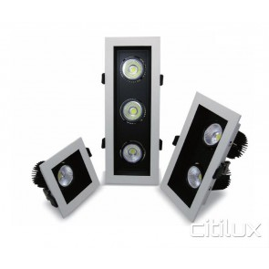 Corex 27W LED Downlights Square Frame Triple