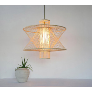 Tiwana Natural Timber Pendant Light in Natural Colour Citilux