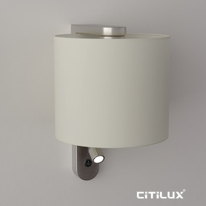 Pennsylvania Wall Light with Reading Lamp in Satin Nickel Citilux