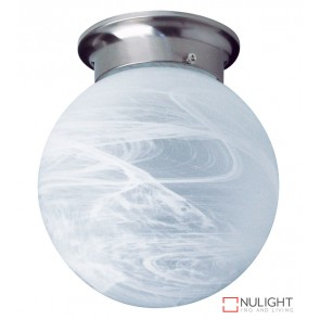 20Cm Alabaster Ball Diy Brushed Chrome ORI