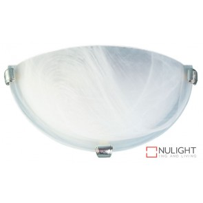 Remo 30Cm Uplighter Alabaster - Chrome ORI