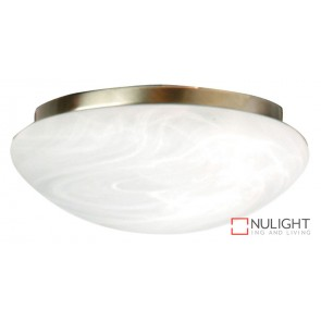 Fan Light Antique Brass- Alabaster 230Mm ORI