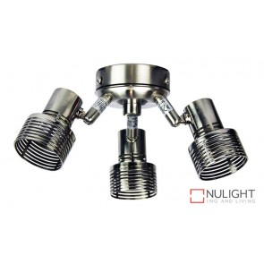 Zip Fan 3 Light Brushed Chrome Fan Light Kit ORI