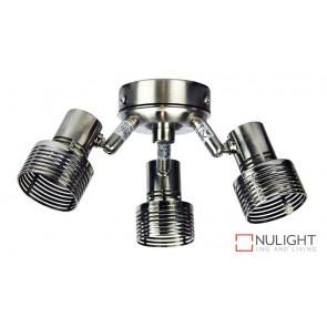Zip Fan 3 Light Brushed Chrome Fan Light Kit ORI