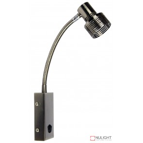Zip Hardwired Switched Wall Light In Brush Chrome ORI