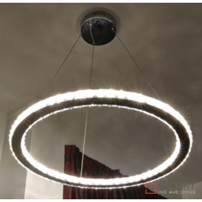 Oxy Led Crystal Ring Pendant 500Mm 19W ORI