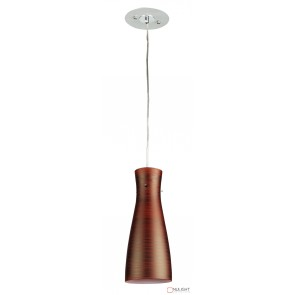 Cleo Painted Glass Single Pendant Red ORI