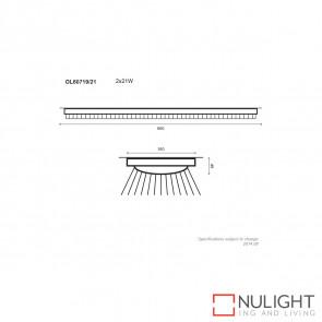Twin T5 Slimline Fluorescent 21w White ORI