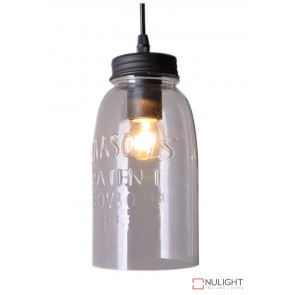 Mason Jar Pendant Clear Glass ORI
