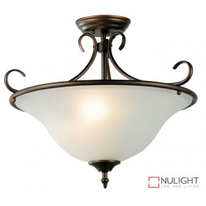 Gaston 3Lt Semi-Flush Fitting Bronze ORI