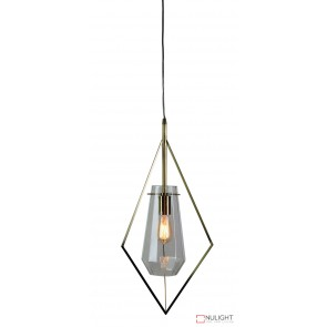 Fili.35 Single Pendant Satin Brass - Clear ORI