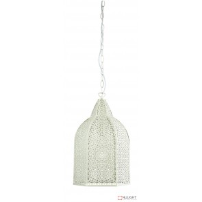 Istanbul Wrought Metal Antique White Pendant ORI