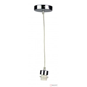 Parti Cord Suspension Chrome With Clear Flex E27 ORI