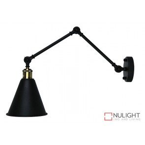 Roxbury Adjustable Wall Light Matt Black ORI
