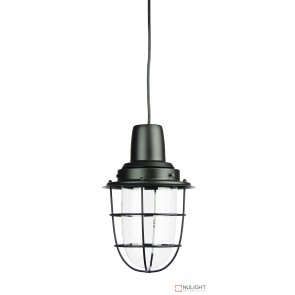 Flint Single Industrial Pendant Matt Black ORI