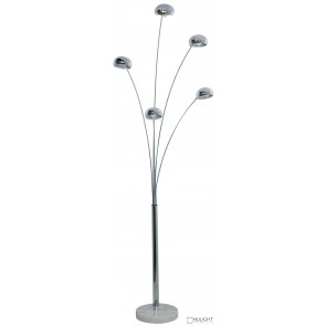 Mantra 5Lt Floor Lamp Chrome - Marble ORI