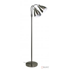 Retro Twin Floor Lamp Brushed Chrome ORI