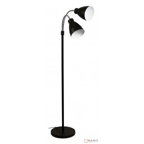 Retro Twin Floor Lamp Matt Black ORI