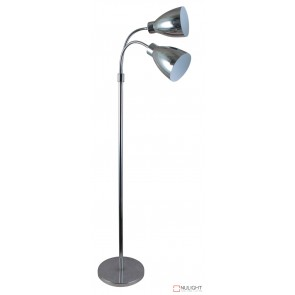 Retro Twin Floor Lamp Chrome ORI
