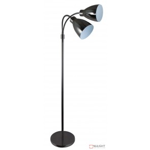 Retro Twin Floor Lamp Gunmetal ORI