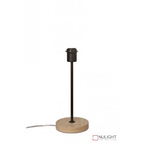 Fino Table Lamp Base Teak And Black ORI