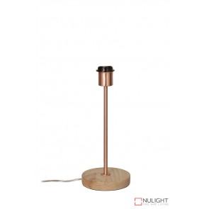 Fino Table Lamp Base Teak And Copper ORI