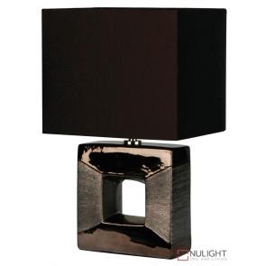 Era Bronze Square Cutout Complete Table Lamp ORI