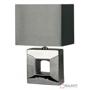 Era Silver Square Cutout Complete Table Lamp ORI