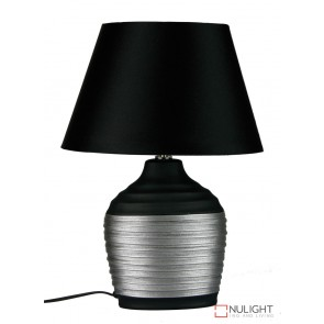 Liano Black And Silver Ovoid Base And Shade ORI