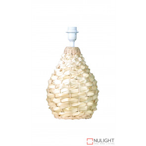 Cayman Woven Cane Small Table Lamp Natural Base Only ORI