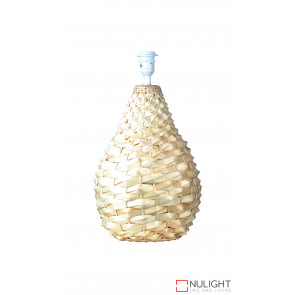 Cayman Woven Cane Large Table Lamp Natural Base Only ORI