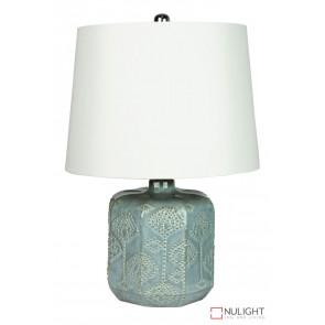 Bikki Blue Ceramic Complete Table Lamp ORI