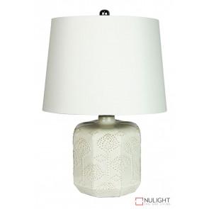 Bikki White Ceramic Complete Table Lamp ORI
