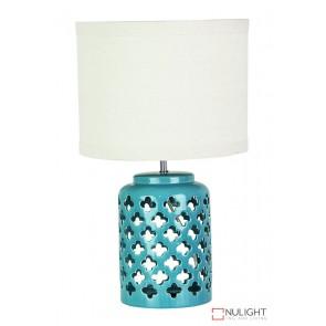 Casbah Teal Ceramic Complete Table Lamp ORI