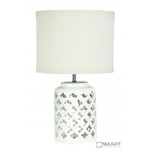 Casbah White Ceramic Complete Table Lamp ORI