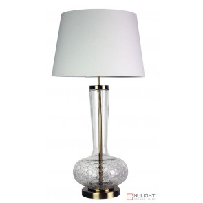 Pavia Clear Glass Complete Table Lamp ORI