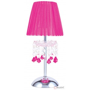 Tizz Touch Lamp Pink And Chrome ORI
