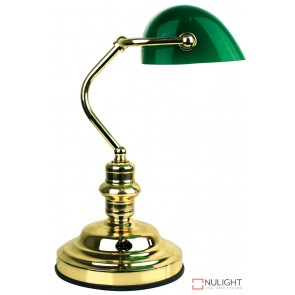 Bankers Lamp Touch Brass - Dark Green ORI
