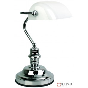 Bankers Lamp Touch Chrome - Gloss Opal ORI