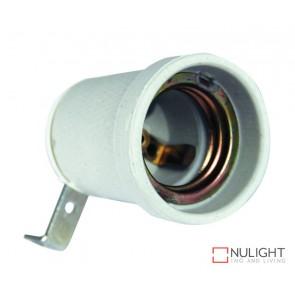 Lampholder - Ceramic E27 Insulated With Bracket ORI