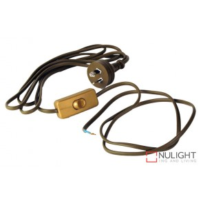 Flex Gold Moulded Plug And Switch Dbins ORI