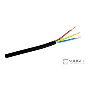 Cable Black 3-Core Round Per Metre ORI